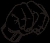 ASL letter for: n