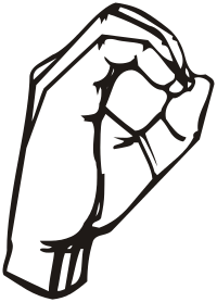 ASL letter for: o